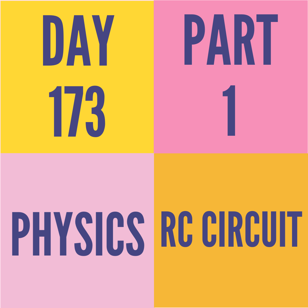 DAY-173 PART-1 RC CIRCUIT