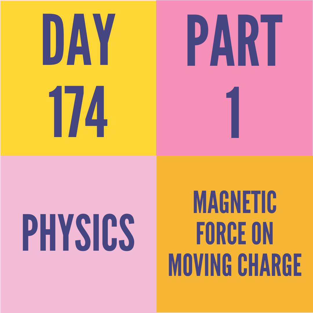 DAY-174 PART-1 MAGNETIC FORCE ON MOVING CHARGE