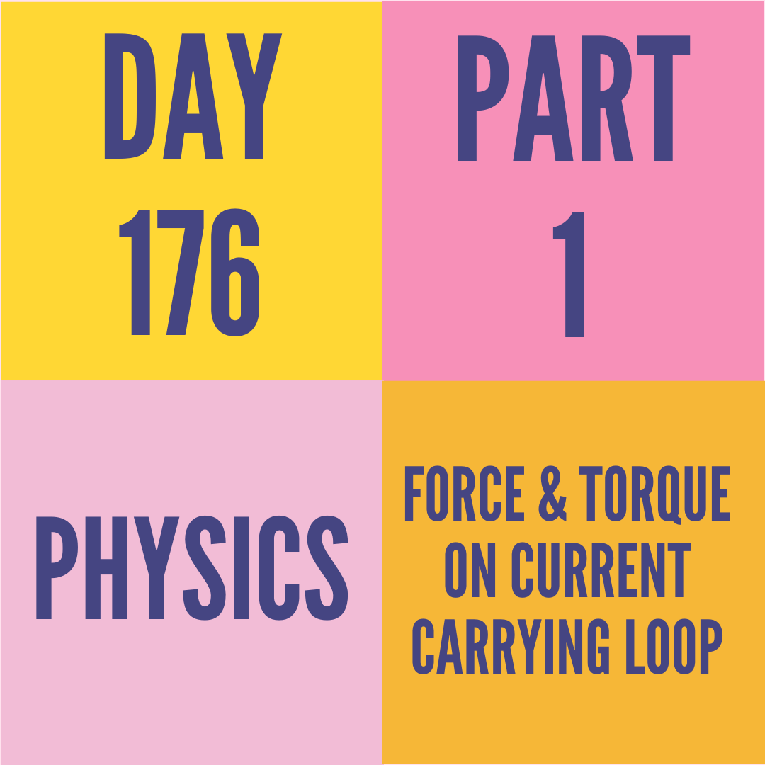 DAY-176 PART-1 FORCE & TORQUE ON CURRENT CARRYING LOOP
