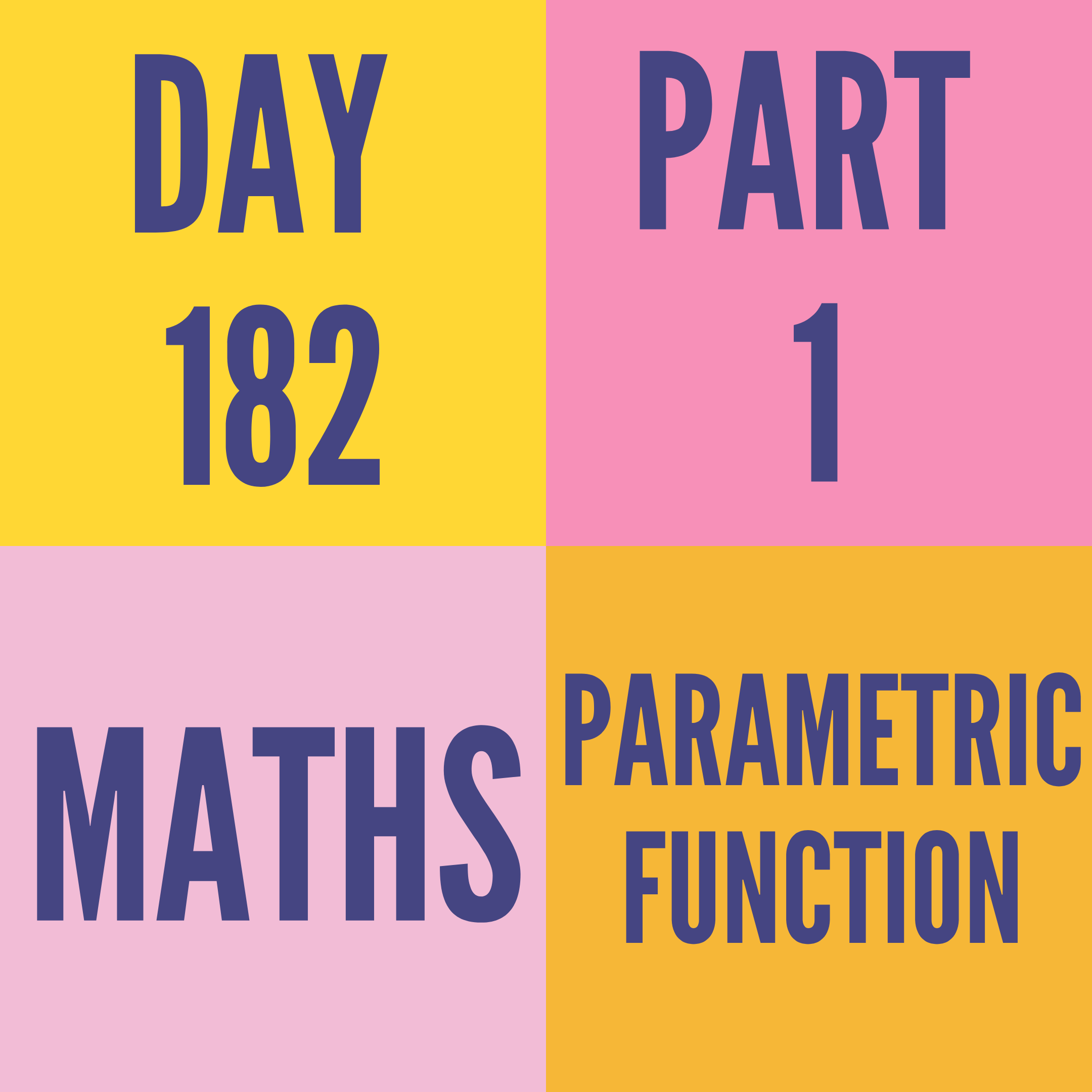 DAY-182 PART-1 PARAMETRIC FUNCTION