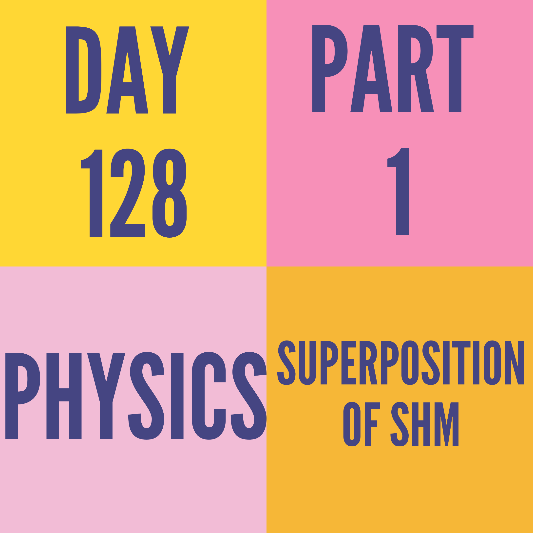 DAY-128 PART-1 SUPERPOSITION OF SHM