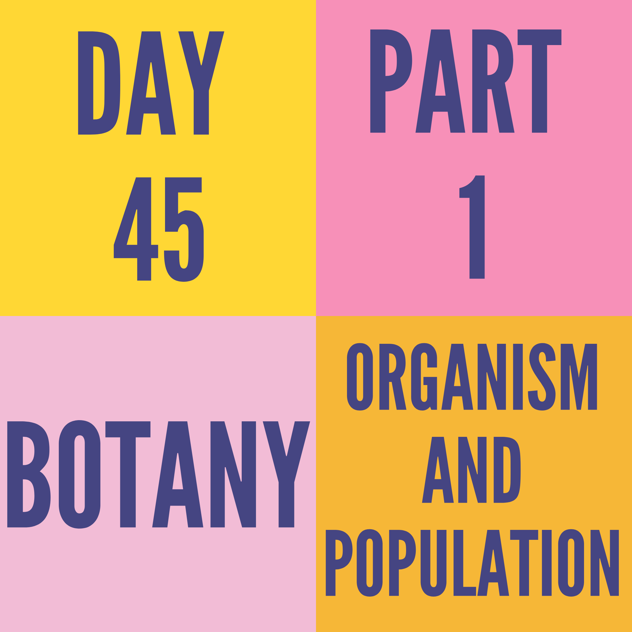 DAY-45 PART-1 ORGANISM AND POPULATION