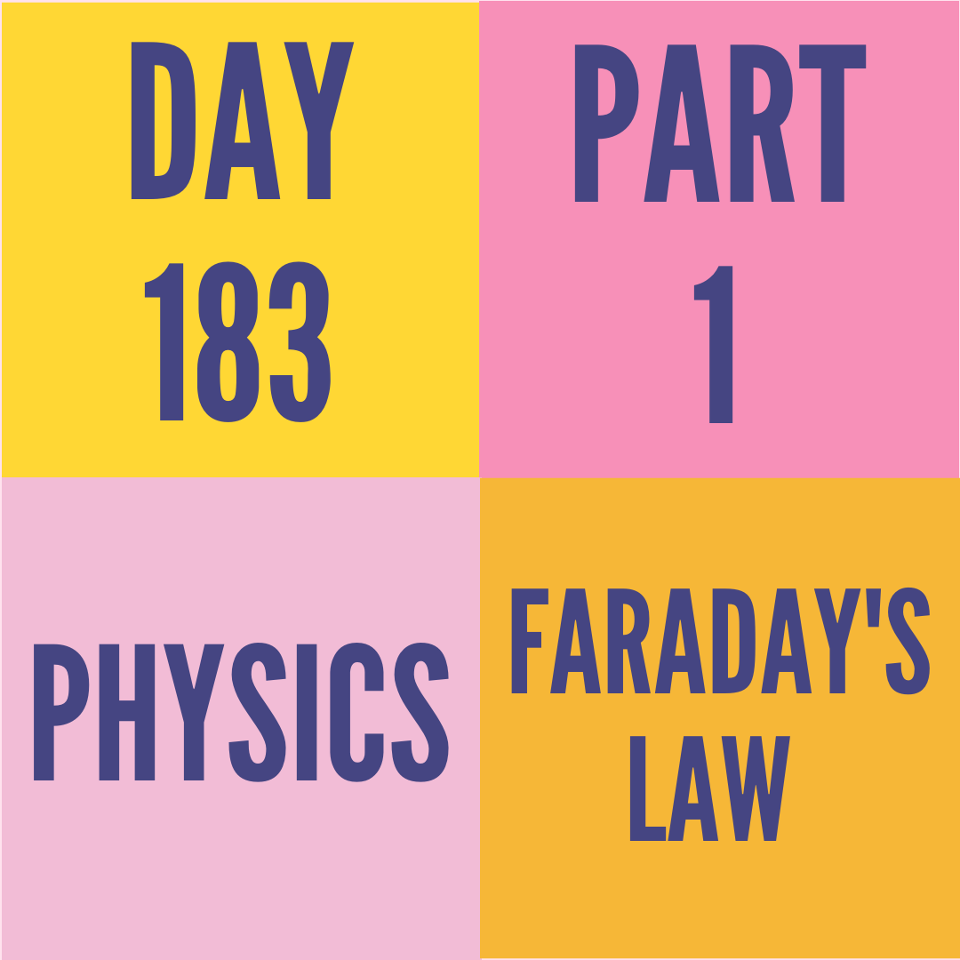 DAY-183 PART-1 FARADAY'S LAW