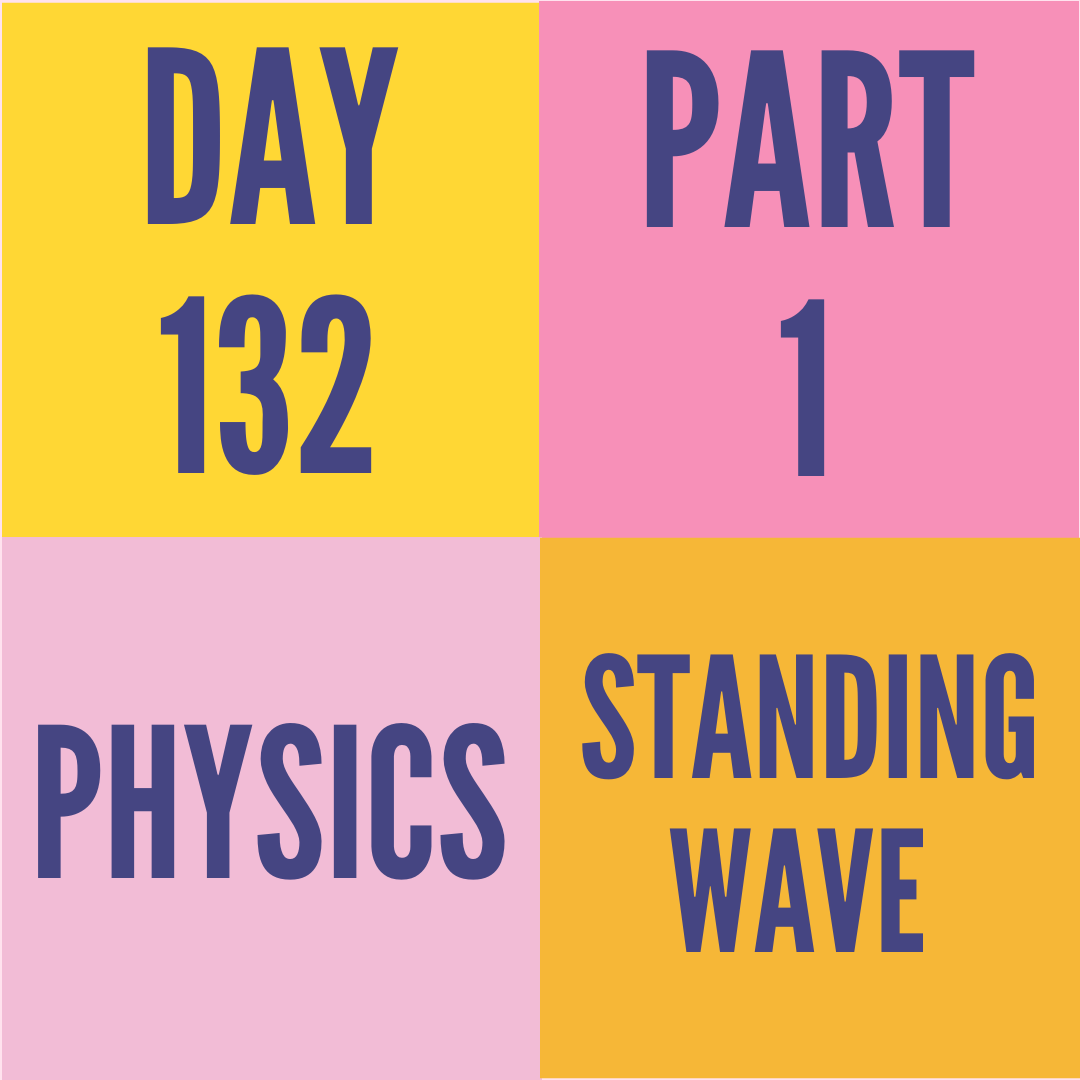 DAY-132 PART-1 STANDING WAVE