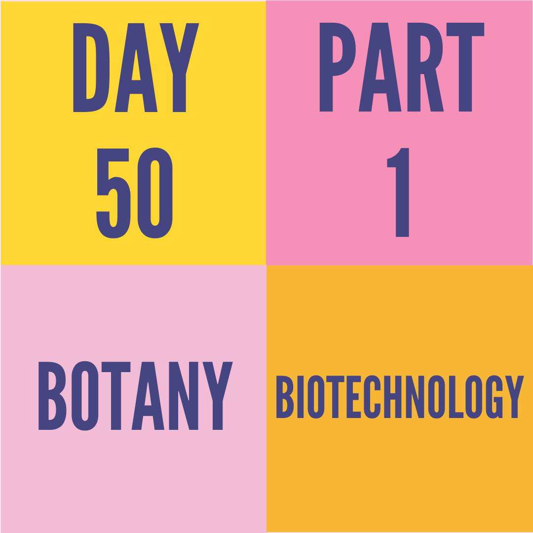 DAY-50 PART-1 BIOTECHNOLOGY