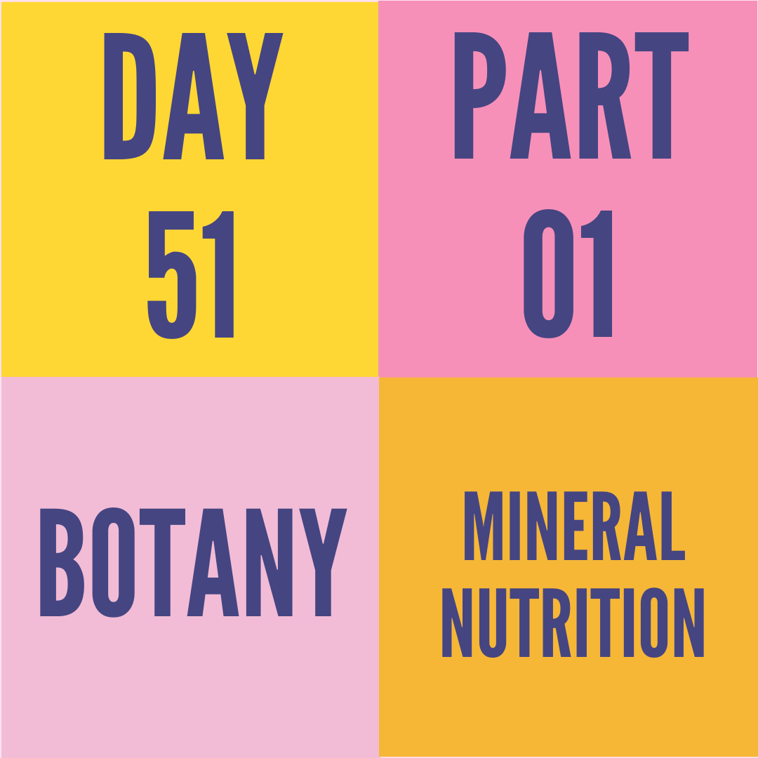 DAY-51 PART-1 MINERAl NUTRITION