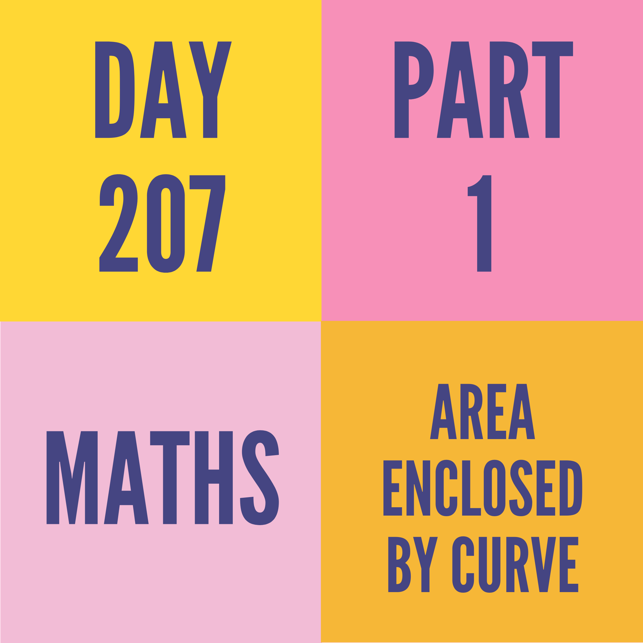 DAY-207 PART-1 AREA ENCLOSED BY CURVE