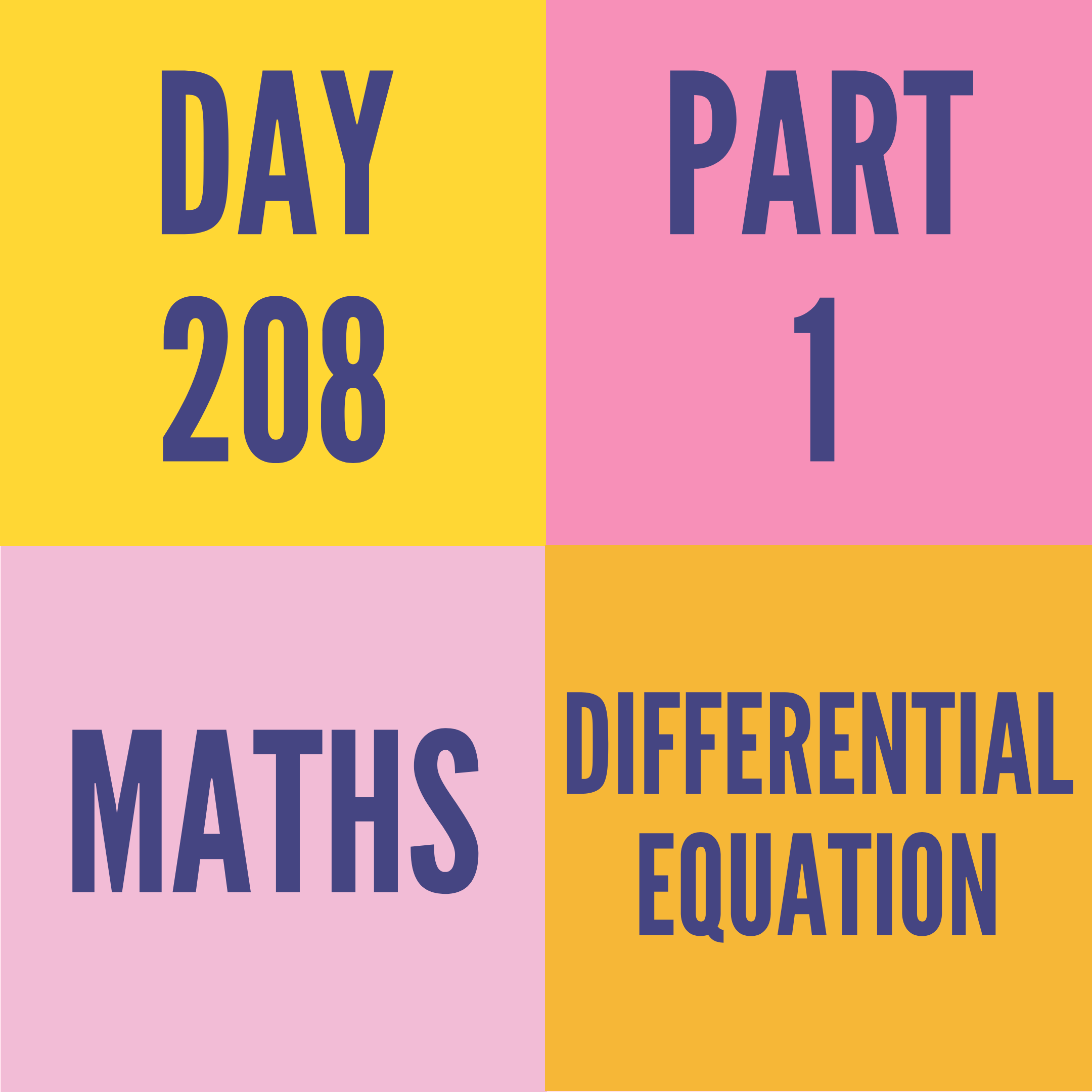 DAY-208 PART-1 (Target) DIFFERENTIAL EQUATION