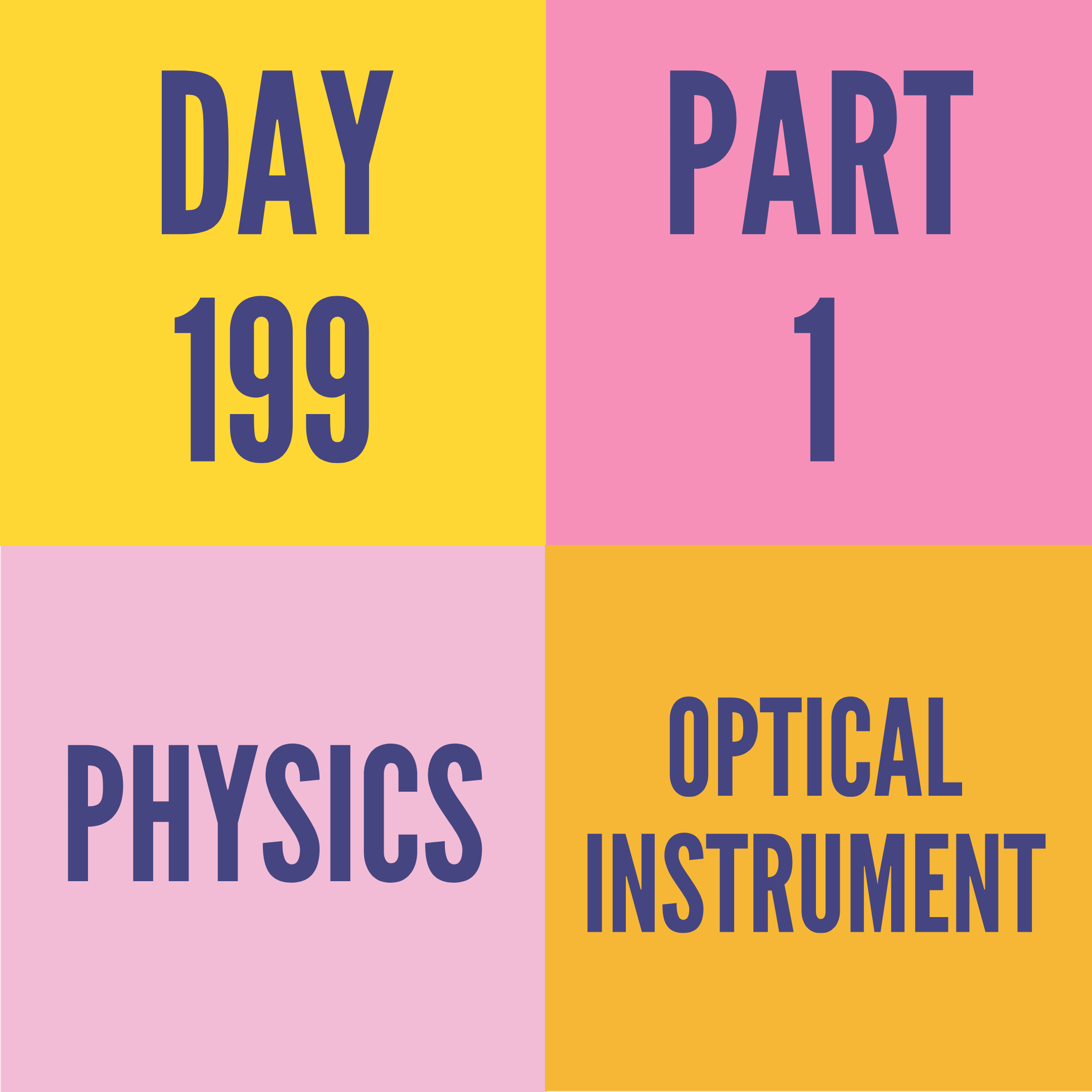DAY-199 PART-1 (TARGET)OPTICAL INSTRUMENT
