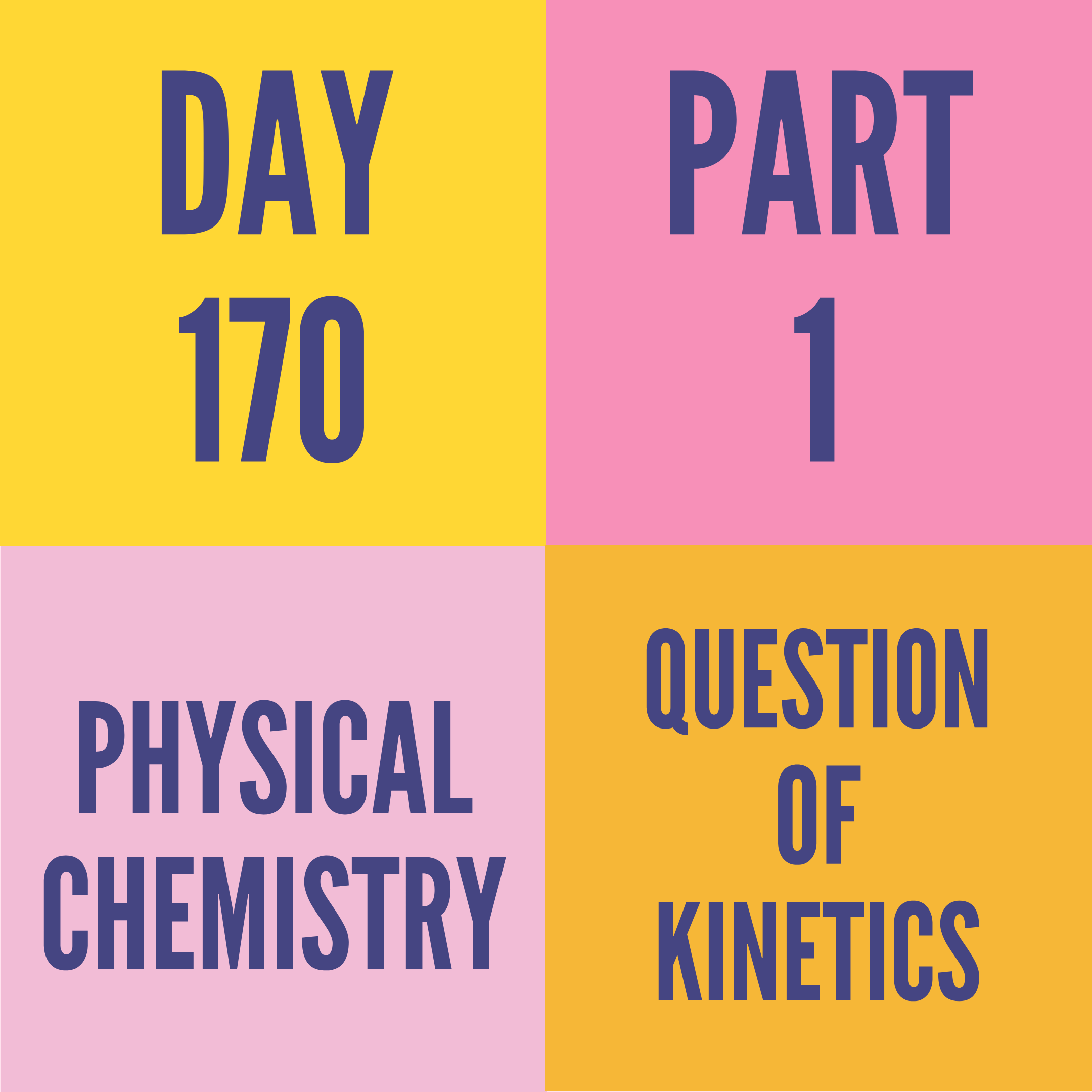 DAY-170 PART-1 (TARGET) QUESTION OF KINETICS