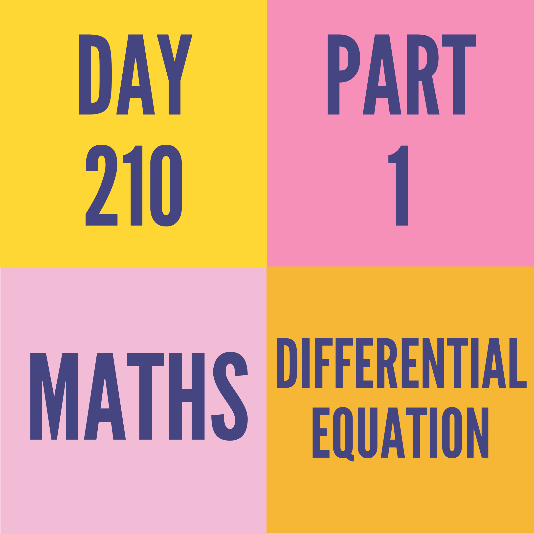 DAY-210 PART-1(TARGET)  DIFFERENTIAL EQUATION