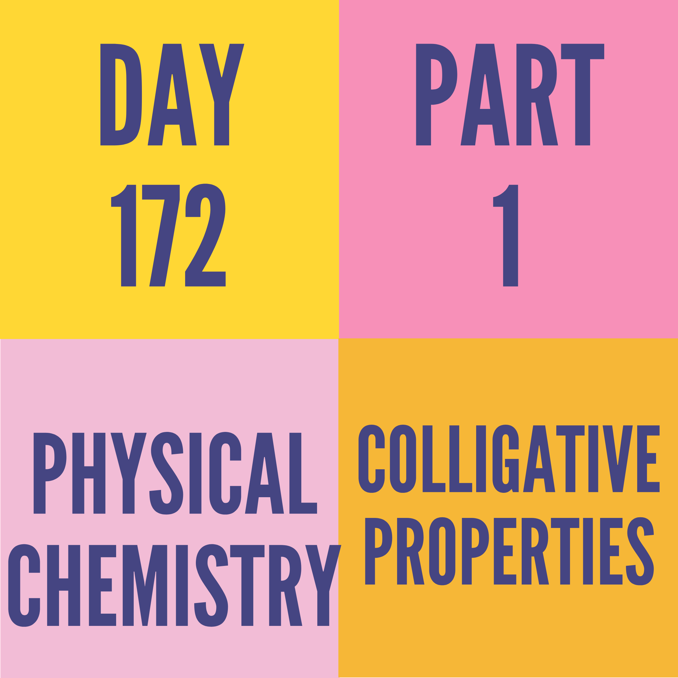 DAY-172 PART-1 (TARGET) COLLIGATIVE PROPERTIES