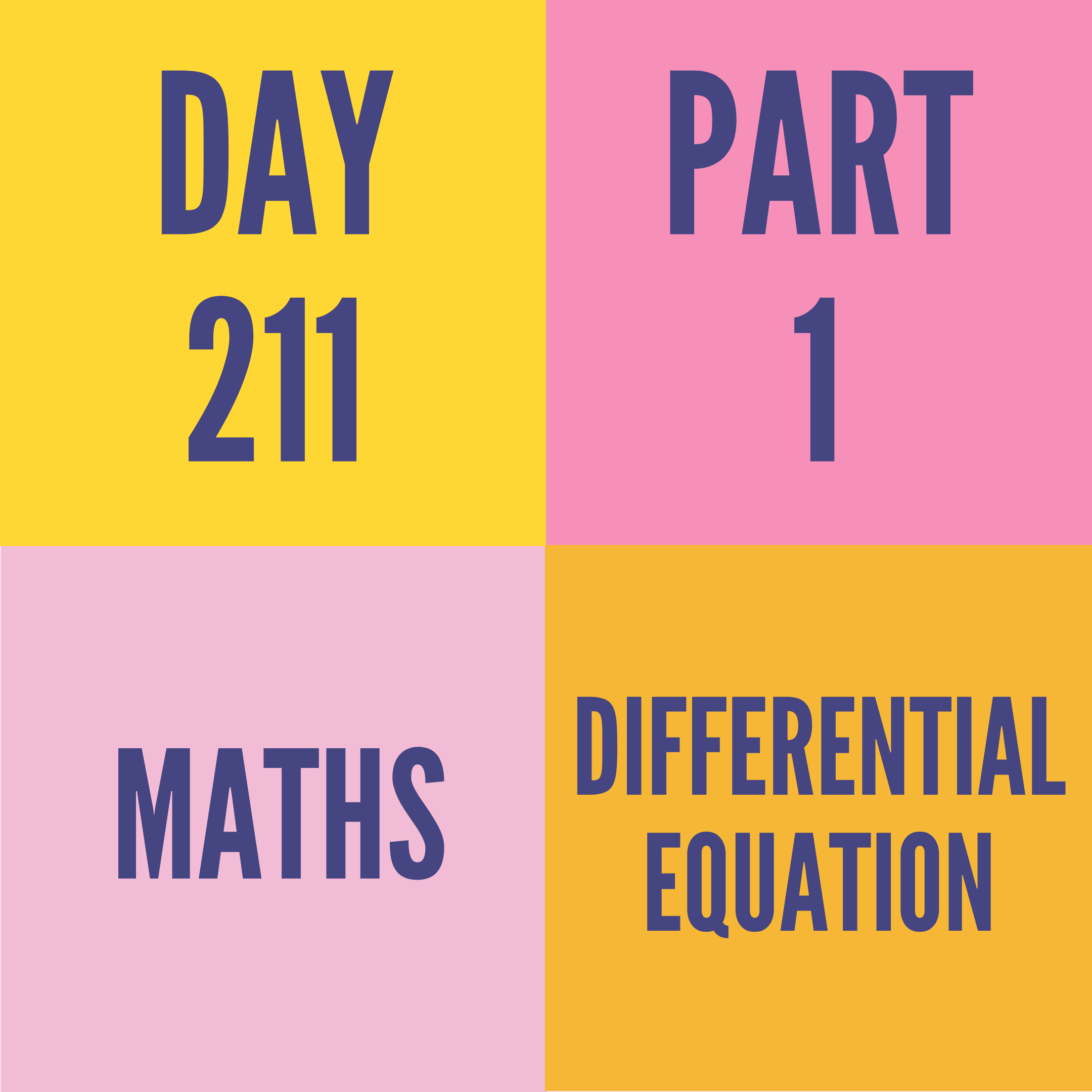 DAY-211 PART-1(TARGET) DIFFERENTIAL EQUATION