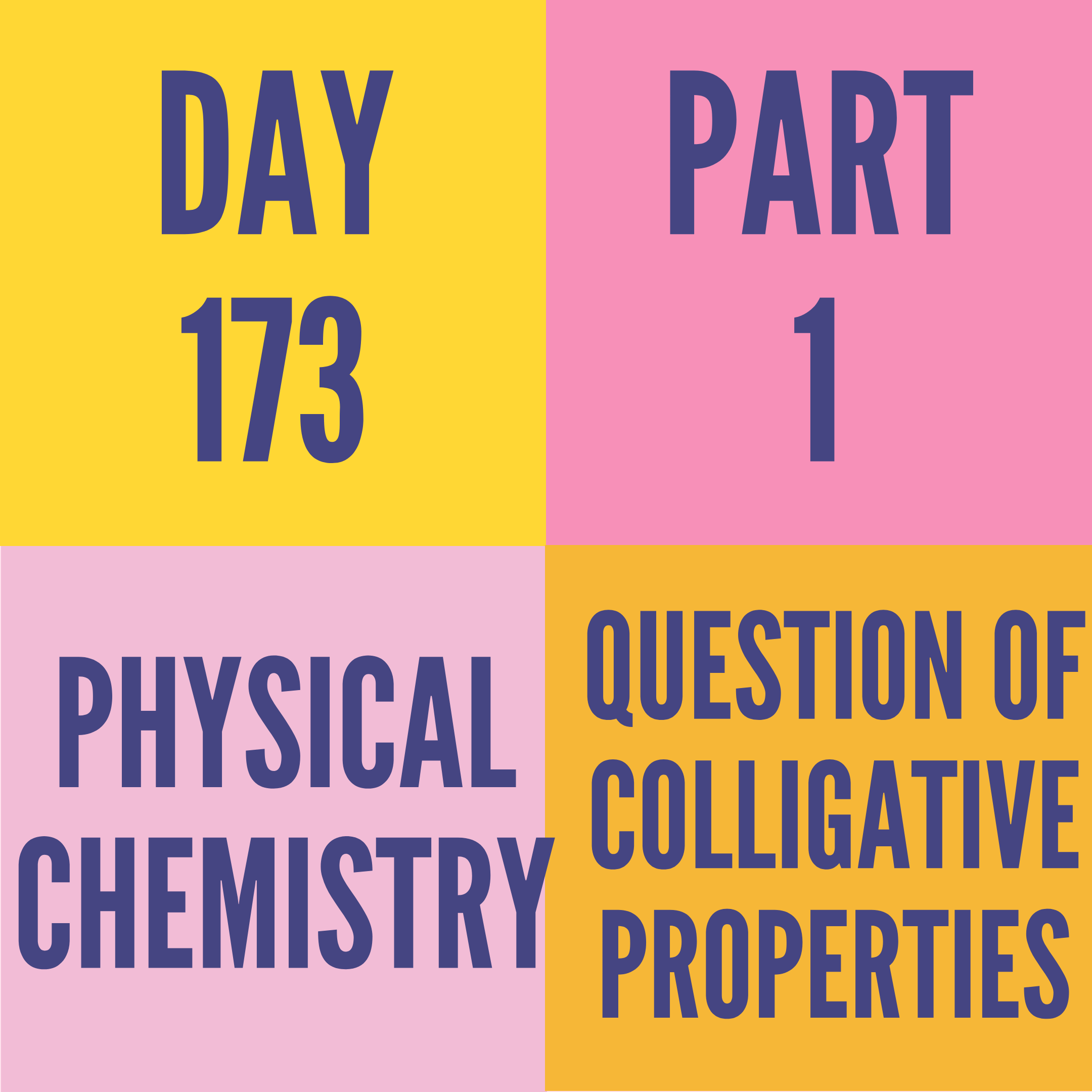 DAY-173 PART-1 QUESTION OF COLLIGATIVE PROPERTIES