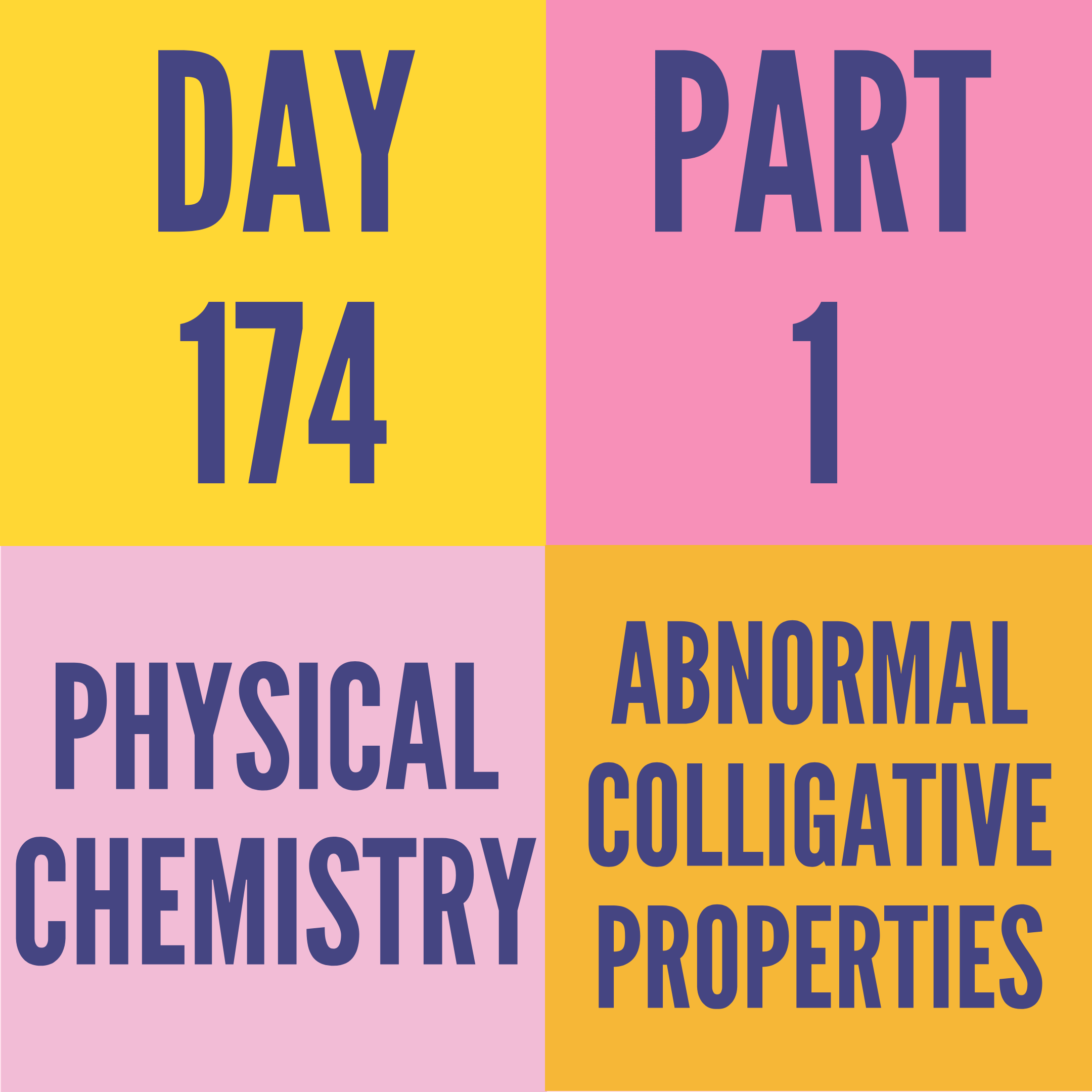 DAY-174 PART-1 ABNORMAL COLLIGATIVE PROPERTIES