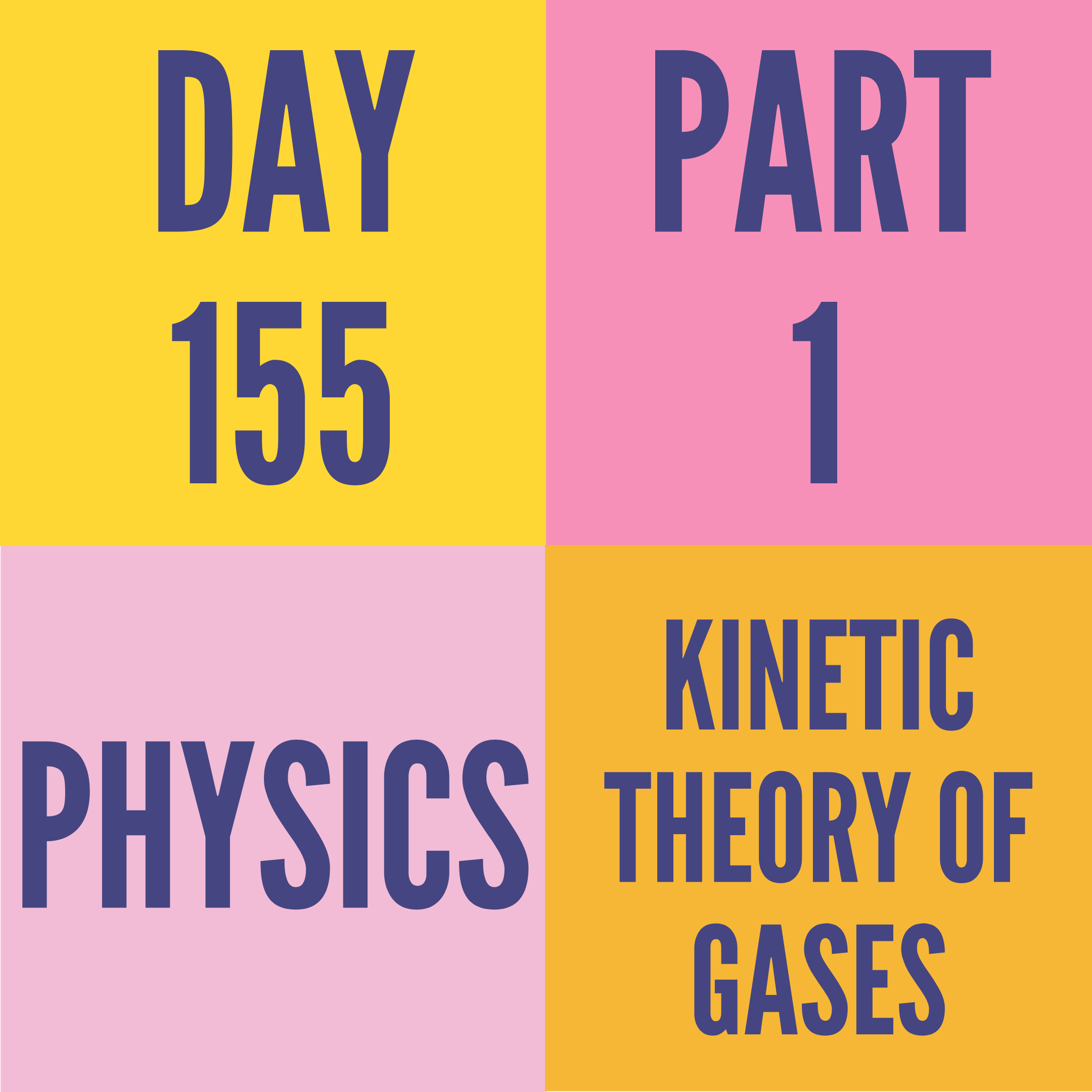 DAY-155 PART-1 KINETIC THEORY OF GASES
