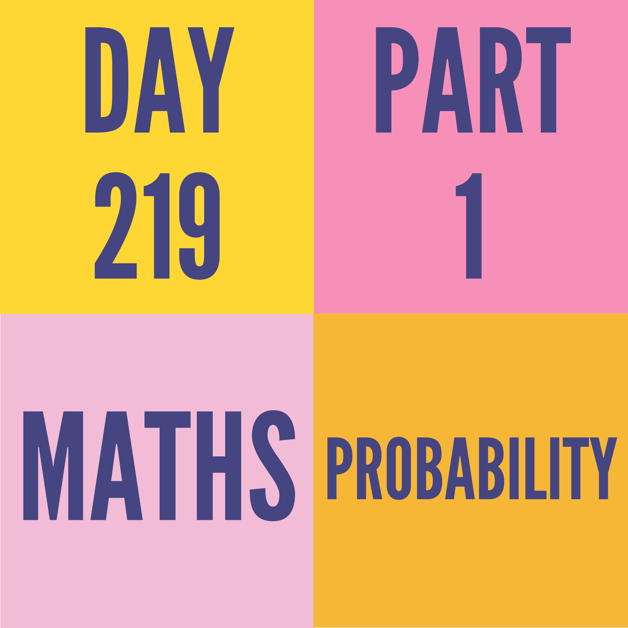 DAY-219 PART-1 PROBABILITY