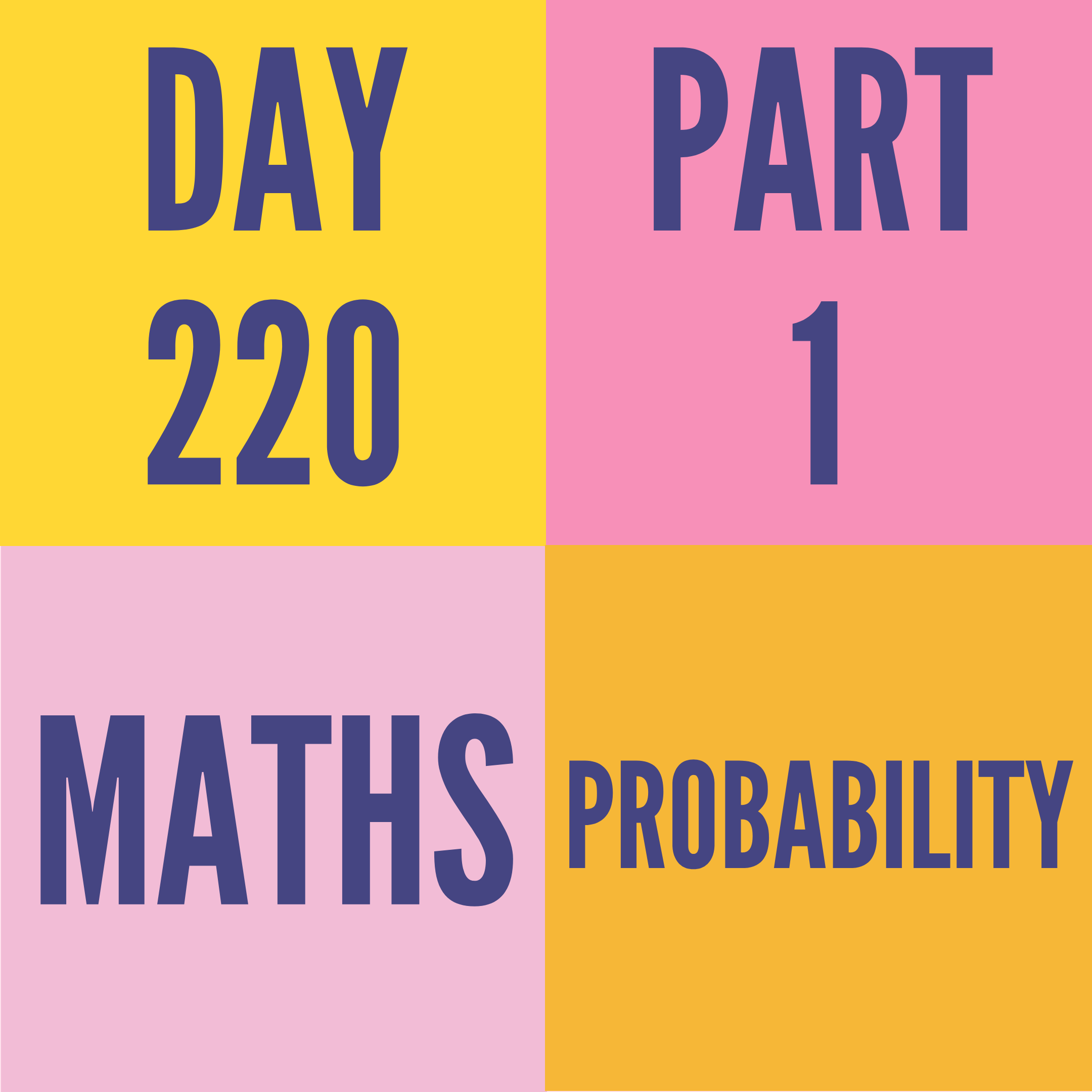 DAY-220 PART-1 PROBABILITY