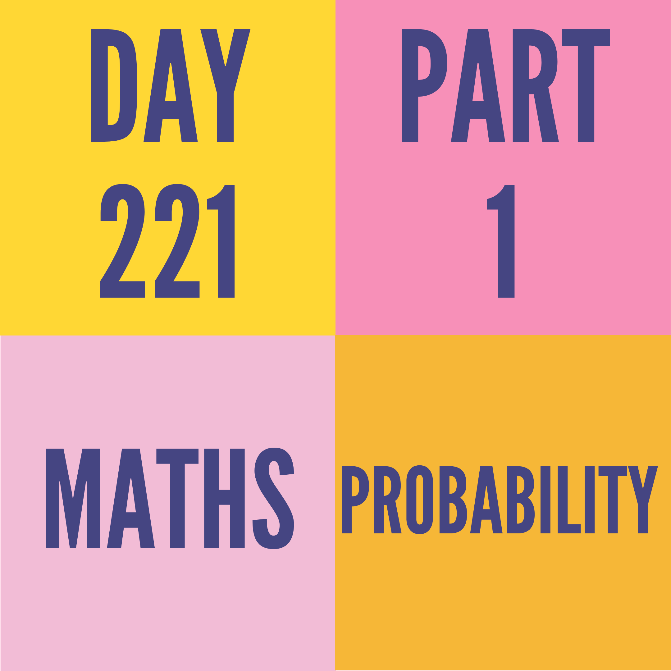 DAY-221 PART-1 PROBABILITY