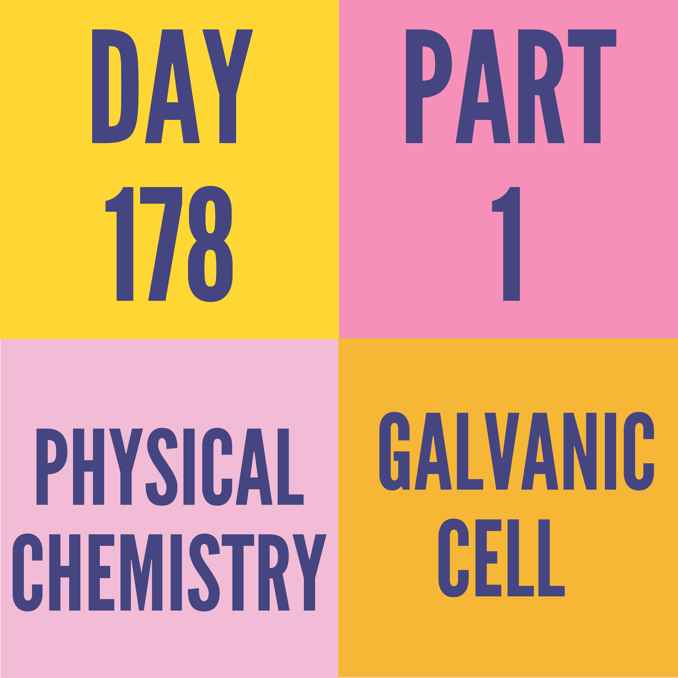 DAY-178 PART-1 GALVANIC CELL