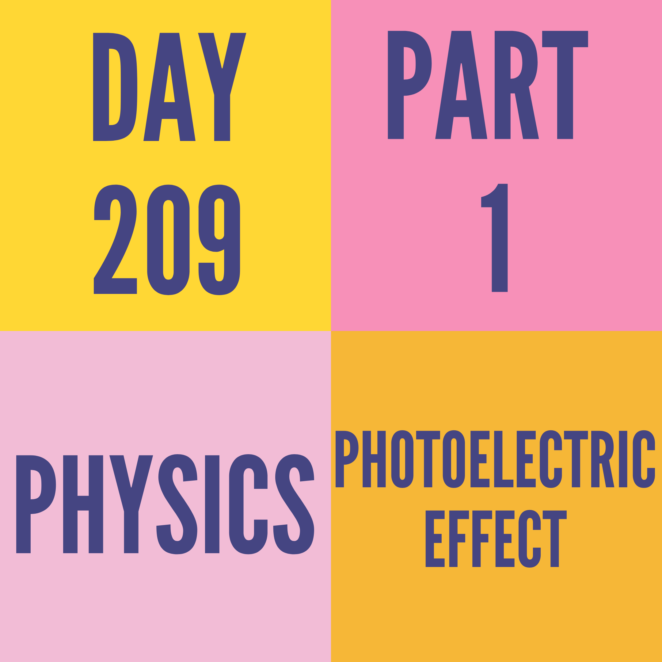 DAY-209 PART-1 PHOTOELECTRIC EFFECT