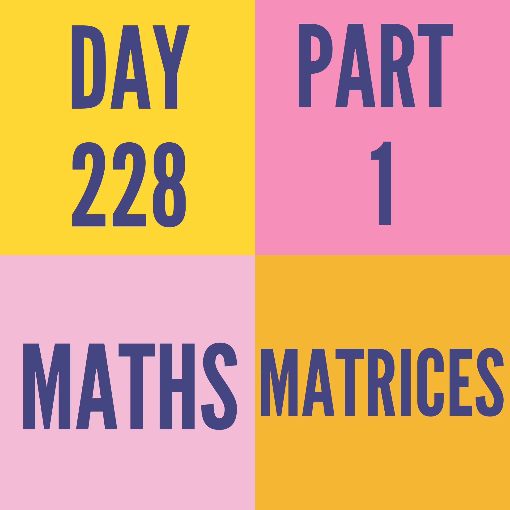 DAY-228 PART-1 MATRICES