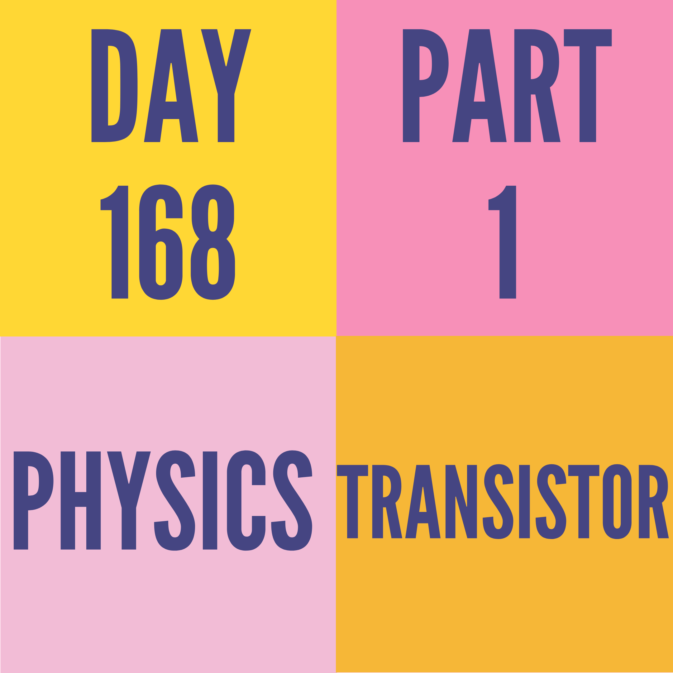 DAY-168 PART-1 TRANSISTOR