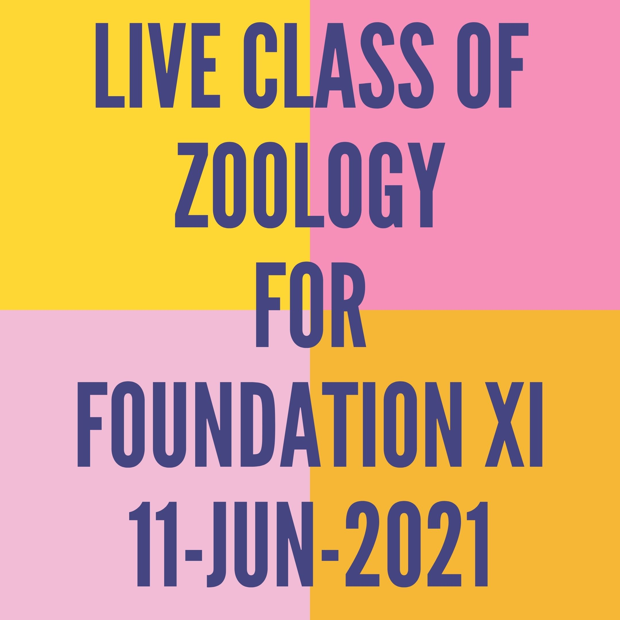 LIVE CLASS OF ZOOLOGY FOR FOUNDATION XI (11-JUN-2021) DIGESTIVE SYSTEM
